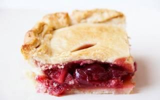 Пирог из дрожжевого слоеного теста с яблоками