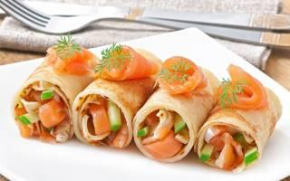 Аппетитные блинчики с семгой для Вашего Новогоднего стола
