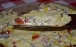 Готовим вкусную пиццу за 20 минут