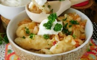 Вареники с картошкой и с капустой рецепт