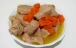 Мясо тушеное с подливкой рецепт с фото