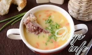Суп гороховый в мультиварке с копчеными ребрами