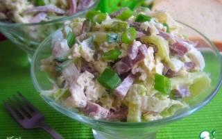 Острый салат из языка и капусты – вкуснее не бывает