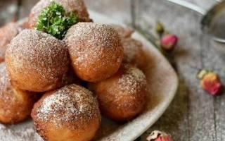 Пончики из творога жареные в масле рецепт