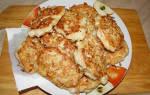 Картофельно-куриные оладьи – экономно и очень вкусно