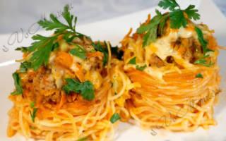 Оригинальный и вкусный рецепт макаронных гнезд