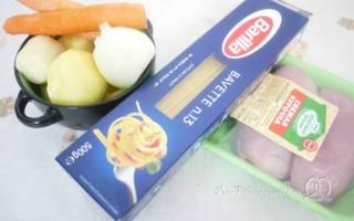 Как приготовить суп с картошкой и с лапшой