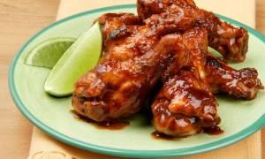 Голени куриные в соевом соусе в духовке